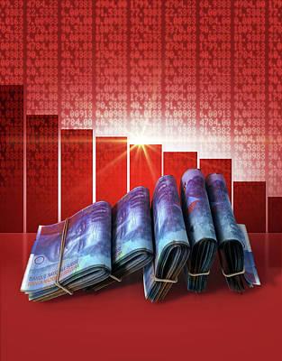 Francs Digital Art - Negative Market Money by Allan Swart