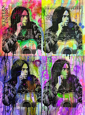 Neil Young Wall Art - Painting - 4 Neil by Dean Russo Art