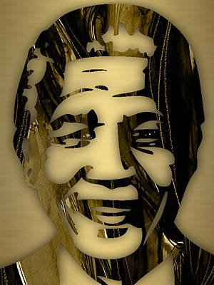 Nelson Mandela Collection Art Print by Marvin Blaine