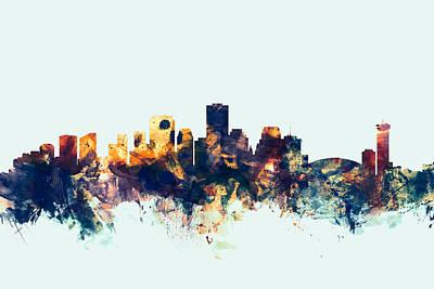 Orleans Digital Art - New Orleans Louisiana Skyline by Michael Tompsett