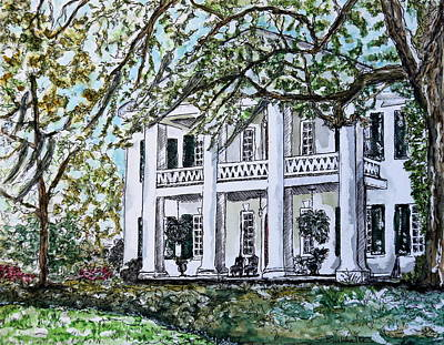 Natchez Painting - Monmouth Mansion by Sue Burkhalter