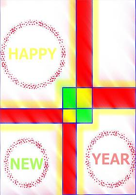Painting - New Year Greeting Card by Pratyasha Nithin
