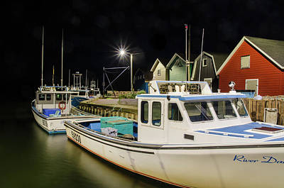 Photograph - Nighttime On The Wharf. by Rob Huntley
