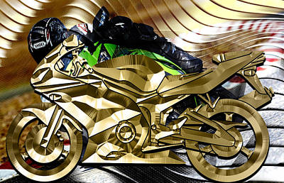 Mixed Media - Ninja Motorcycle Collection by Marvin Blaine