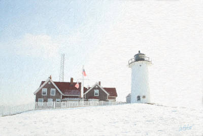 Nobska Light House Print by Michael Petrizzo