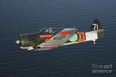 Cockpit Photograph - North American Aviation T-6 Texan by Daniel Karlsson