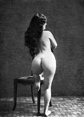 Painting - Nude Posing: Rear View by Granger