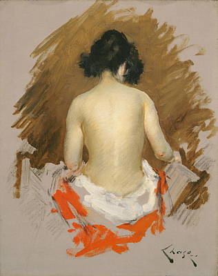 Plump Women Wall Art - Painting - Nude by William Merritt Chase