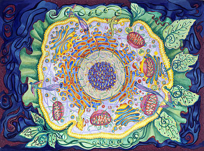 Painting - Ode To The Eukaryote by Shoshanah Dubiner
