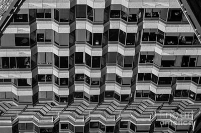 Photograph - Office Building Abstract by Jim Corwin
