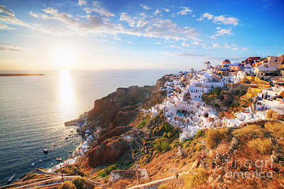 Kitchen Collection - Oia town on Santorini island by Michal Bednarek