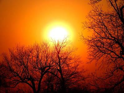 Photograph - Oklahoma Sunset by Virginia Kay White