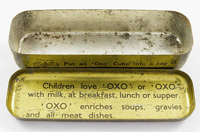 State Love Nancy Ingersoll Rights Managed Images - Old OXO bullion cube container 5 Royalty-Free Image by Bob Corson