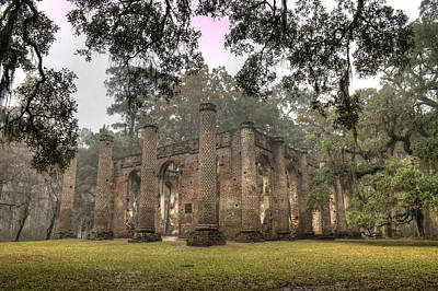 Live Oaks Photograph - Old Sheldon Church Ruins by Dustin K Ryan