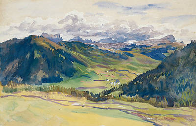 Drawing - Open Valley, Dolomites by John Singer Sargent