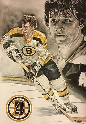Bobby Orr Painting - 4 Orr by Kieran Hassey