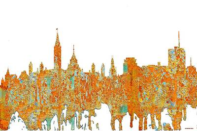 Digital Art - Ottawa Ont.skyline by Marlene Watson