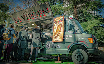 Photograph - Outdoor Mobile Food Market by Henri Irizarri