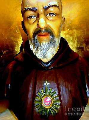 Digital Art - Padre Pio by Ed Weidman