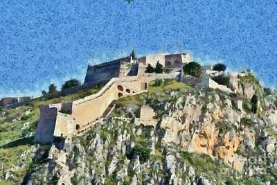 Painting - Palamidi Castle by George Atsametakis