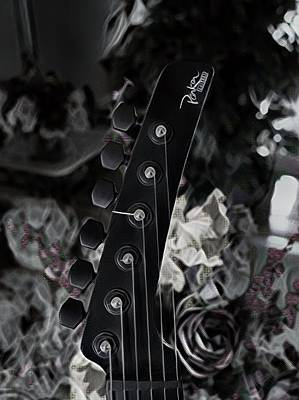 Digital Art - Parker Fly Guitar Headstock by Guitar Wacky