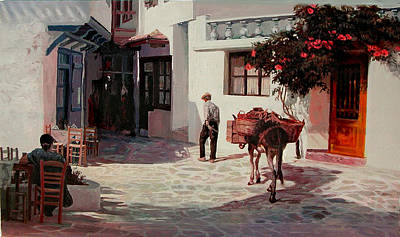 Painting - Parros-greece by Demetrios Vlachos