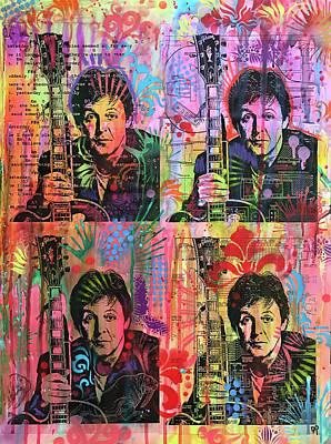 Paul Mccartney Wall Art - Painting - 4 Paul by Dean Russo Art