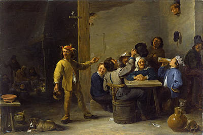 Twelfth Painting - Peasants Celebrating Twelfth Night by David Teniers the Younger