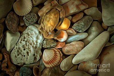 Chiaroscuro Digital Art - Pebble Stones by Michal Boubin