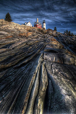 Digital Art - Pemaquid Light by Patrick Groleau
