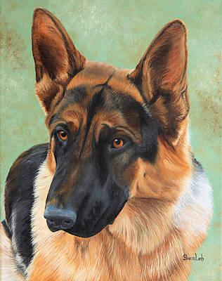 Pet Portrait Painting Commission Dogs Cats Horses  Art Print by Sharon  Lamb