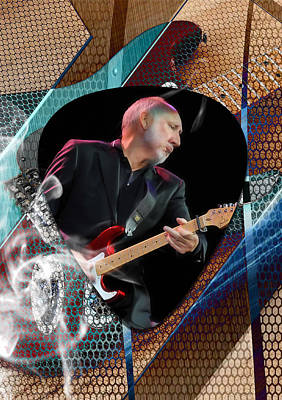 Pete Townshend Mixed Media - Pete Townshend Art by Marvin Blaine