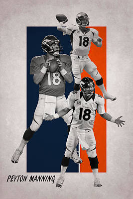 Photograph - Peyton Manning Denver Broncos by Joe Hamilton