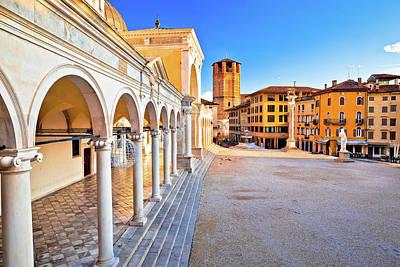 Photograph - Piazza Della Liberta Square In Udine Landmarks View by Brch Photography
