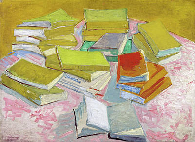 Painting - Piles Of French Novels by Vincent van Gogh