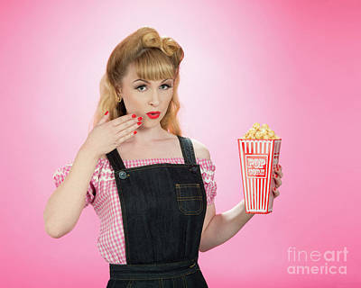 Painted Nails Photograph - Pin Up Style by Amanda Elwell