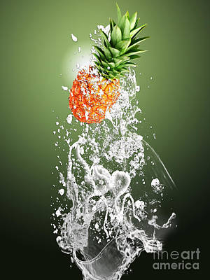 Pineapple Splash Art Print