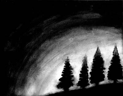 4 Pines Art Print by Salman Ravish