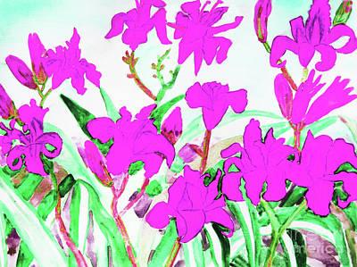 Painting - Pink Daily Lilies by Irina Afonskaya