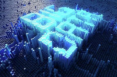 Pixel Big Data Concept Print by Allan Swart