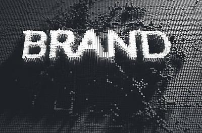 Pixel Brand Concept Print by Allan Swart