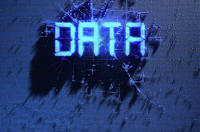 Pixel Data Concept Art Print