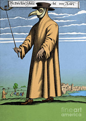 Plague Doctor Photograph - Plague Doctor, 17th Century by Science Source