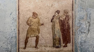 Christmas Patents Rights Managed Images - Pompeii fresco Royalty-Free Image by Colin Porteous