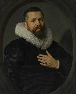 Painting - Portrait Of A Bearded Man With A Ruff by Frans Hals