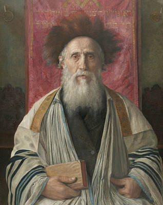 Painting - Portrait Of A Rabbi by Isidor Kaufmann