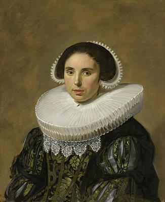 Elder Painting - Portrait Of A Woman by Frans Hals