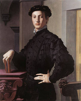Photograph - Portrait Of A Young Man by Agnolo Bronzino