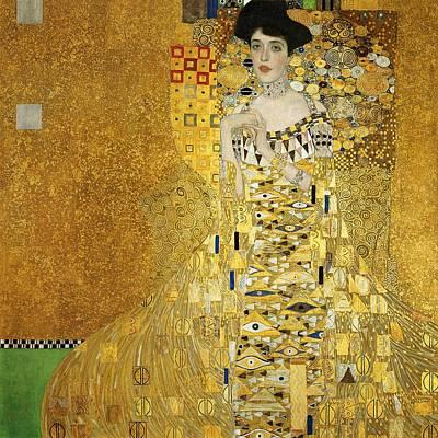 Gold Necklace Painting - Portrait Of Adele Bloch-bauer I by Gustav Klimt