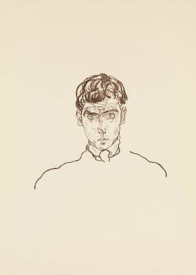 Relief - Portrait Of Paris Von Gutersloh by Egon Schiele